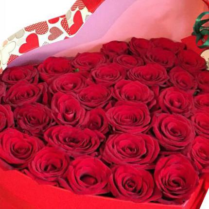 """Цветы в коробке """"С любовью..."""" - доставка по Украине"""