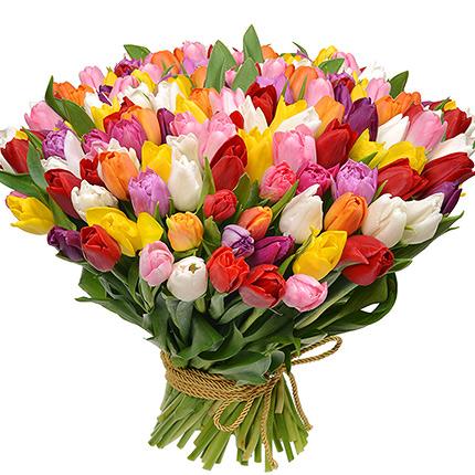 101 разноцветный тюльпан! - доставка по Украине