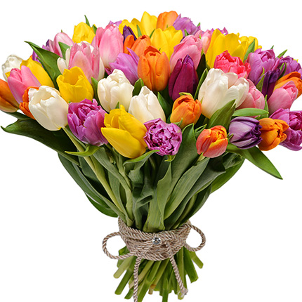 51 multicolored tulips! - delivery in Ukraine