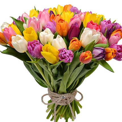 51 різнобарвний тюльпан! - доставка по Україні