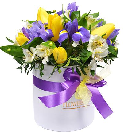 """Цветы в коробке """"Ты - моё чудо!"""" - доставка по Украине"""