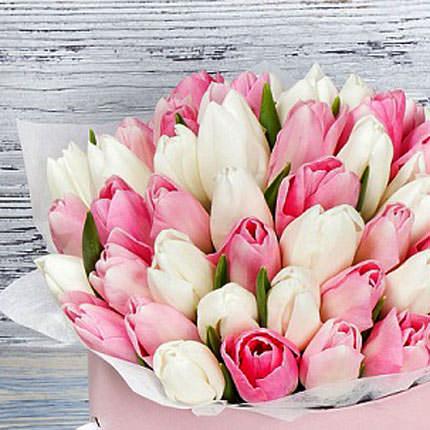 """Цветы в коробке """"Розовое облако"""" - доставка по Украине"""
