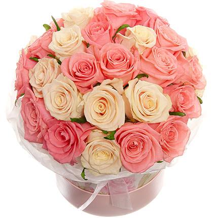 """Цветы в коробке """"Нежное чувство!"""" - заказать с доставкой"""