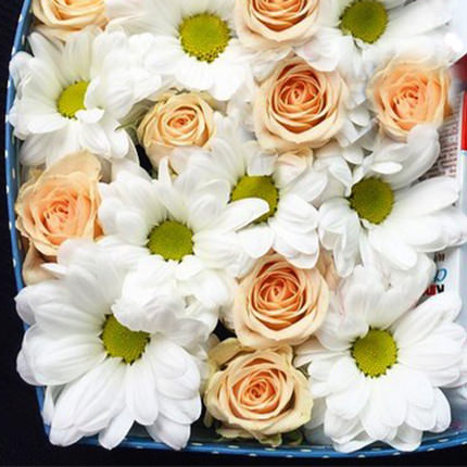 "Flowers in a box ""Smile"" - order with delivery"