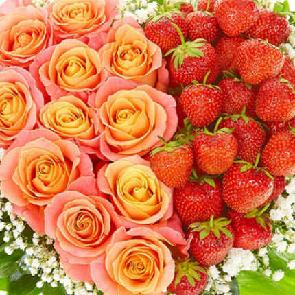 """Composition with strawberries """"Happiness!"""" - delivery in Ukraine"""