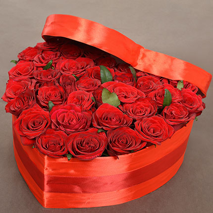 "Flowers in a box ""With Love...!"" - delivery in Ukraine"