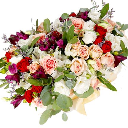 "Flowers in a box ""Luxury style"" - delivery in Ukraine"