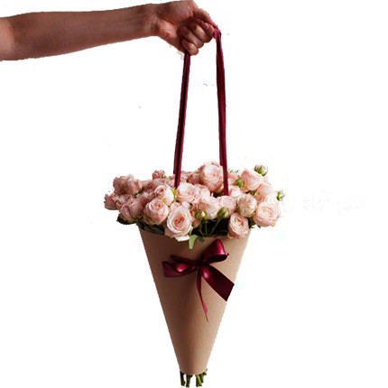 "Bouquet in the cone-package ""My happiness"" - delivery in Ukraine"
