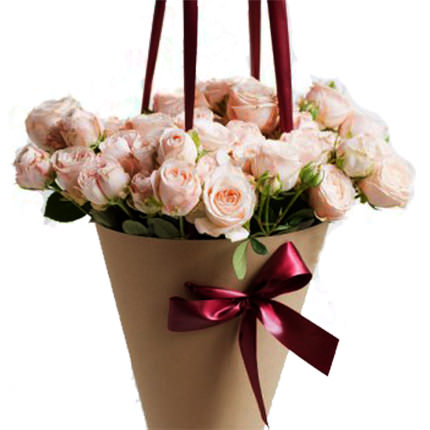 "Bouquet in the cone-package ""My happiness"" - order with delivery"