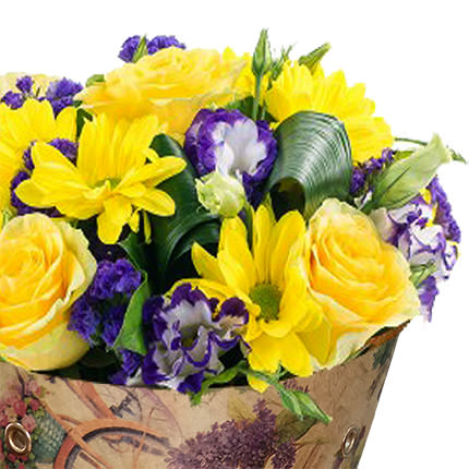 "Bouquet in the cone-package ""Color of happiness"" - delivery in Ukraine"