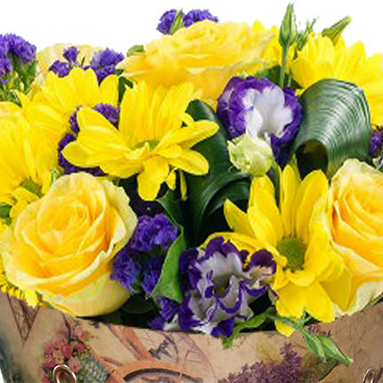 "Bouquet in the cone-package ""Color of happiness"" - order with delivery"