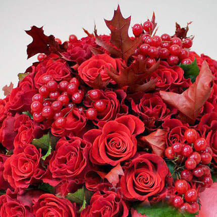 "Flowers in a box ""Love flame"" - delivery in Ukraine"