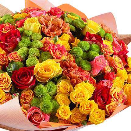 "Bright bouquet ""Sweet caramel"" - delivery in Ukraine"