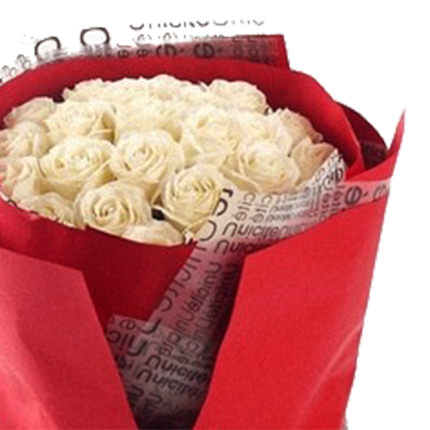 19 white roses - delivery in Ukraine