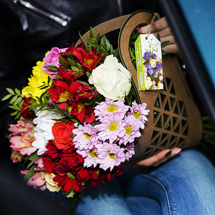 "Bouquet in the kraft-package ""Autumn palette"" - delivery in Ukraine"