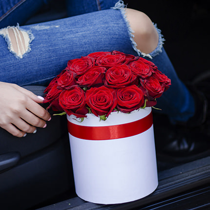 """Flowers in a box """"I Love You!"""" - order with delivery"""