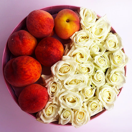"Composition ""Peach dessert"" - delivery in Ukraine"