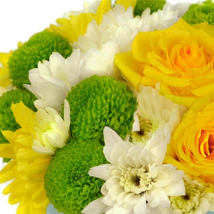 """Квіти в коробці """"Літнє сонечко"""" - замовити з доставкою"""