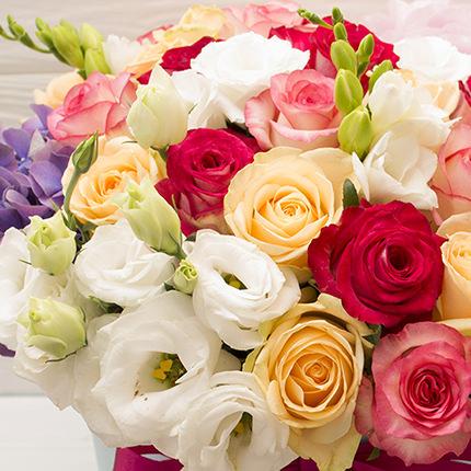 """Квіти в коробці """"Імператриця"""" - замовити з доставкою"""