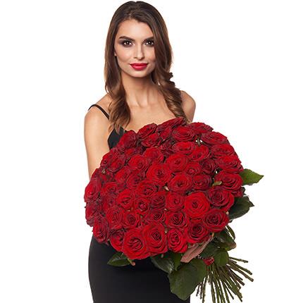 """Акція! """"51 червона троянда"""" - замовити з доставкою"""