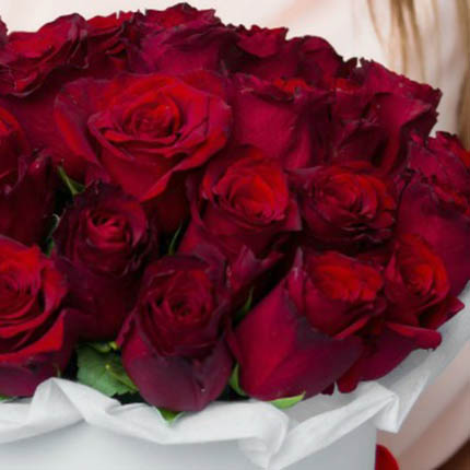 """Цветы в коробке """"Love U!"""" - заказать с доставкой"""