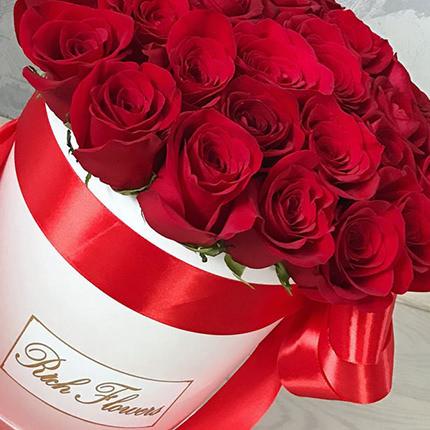 """Цветы в коробке """"Love You!"""" - доставка по Украине"""