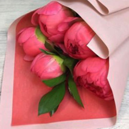 5 May peonies - delivery in Ukraine
