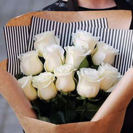 "Bouquet ""11 white roses"" - delivery in Ukraine"