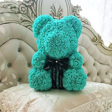 Bear of roses (turquoise) - order with delivery