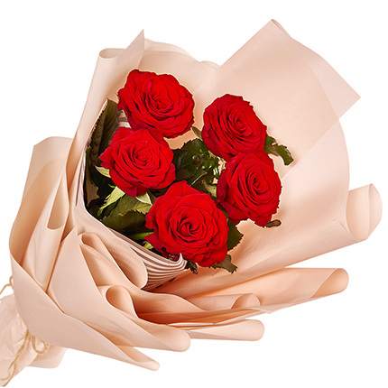 """Bouquet """"5 red roses"""" - delivery in Ukraine"""