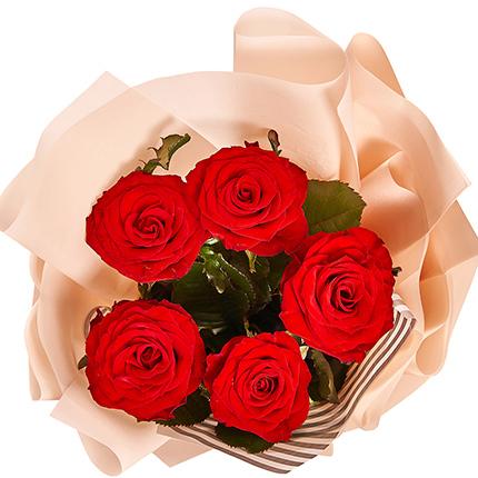 """Букет """"5 красных роз"""" - заказать с доставкой"""