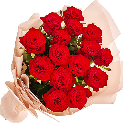 "Bouquet ""15 red roses"" - delivery in Ukraine"