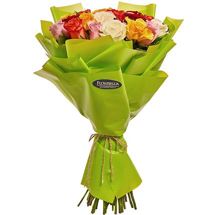 "Bouquet ""25 multicolored roses"" - order with delivery"