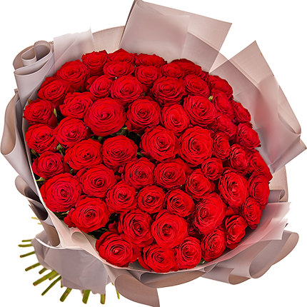 """Bouquet """"51 red roses"""" - delivery in Ukraine"""
