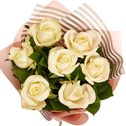 "Bouquet ""7 white roses!"" - delivery in Ukraine"