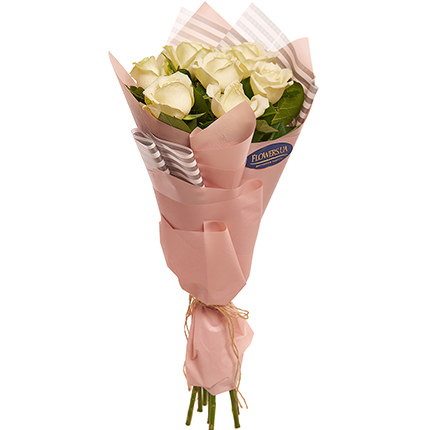 "Bouquet ""7 white roses!"" - order with delivery"
