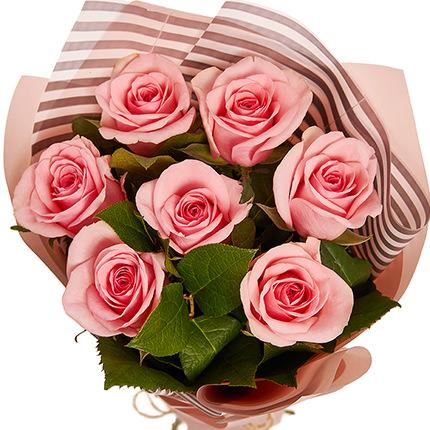 """Букет """"7 розовых роз!"""" - доставка по Украине"""