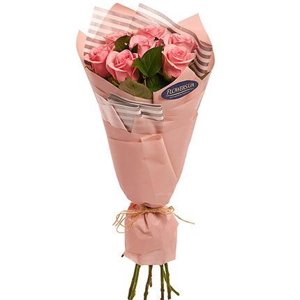 """Букет """"7 розовых роз!"""" - заказать с доставкой"""