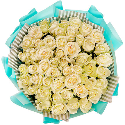 "Bouquet ""51 white roses"" - delivery in Ukraine"