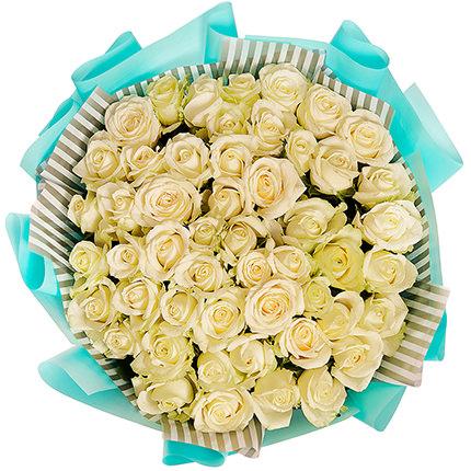 """Букет """"51 біла троянда"""" - доставка по Україні"""