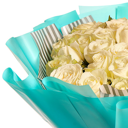 "Bouquet ""51 white roses"" - order with delivery"