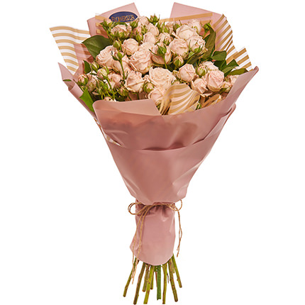 "Bouquet of roses ""Beautiful far"" with balloons - order with delivery"
