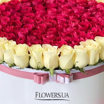"Flowers in the box ""Tender Princess"" - delivery in Ukraine"