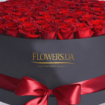 "Flowers in a black box ""101 red roses"" - delivery in Ukraine"