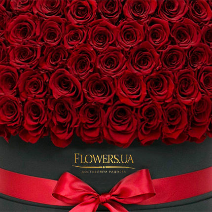 "Flowers in a black box ""151 red roses"" - delivery in Ukraine"