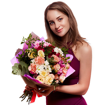 """Bouquet """"The flowering of feelings"""" - order with delivery"""