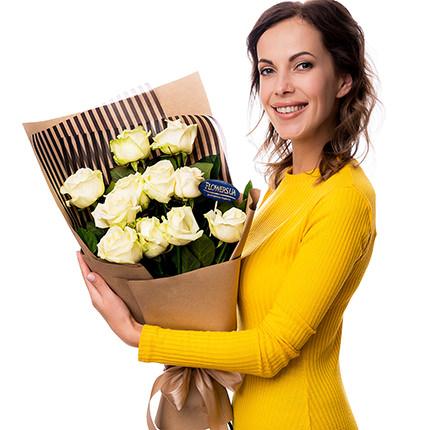 """Букет """"11 белых роз!"""" - заказать с доставкой"""