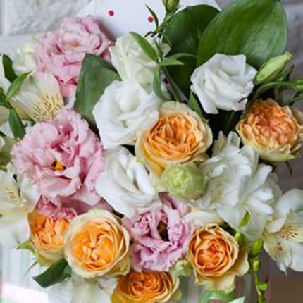 "Composition in ornamental flowerpot ""Caramel Dessert"" - delivery in Ukraine"