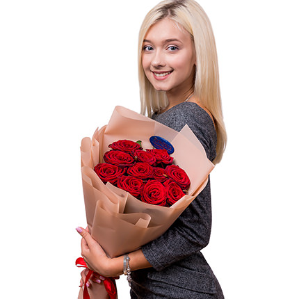 Bouquet of 11 red roses - order with delivery