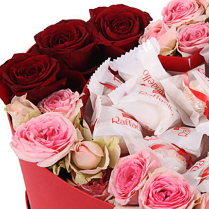 """Flowers in a box """"My love!"""" - order with delivery"""